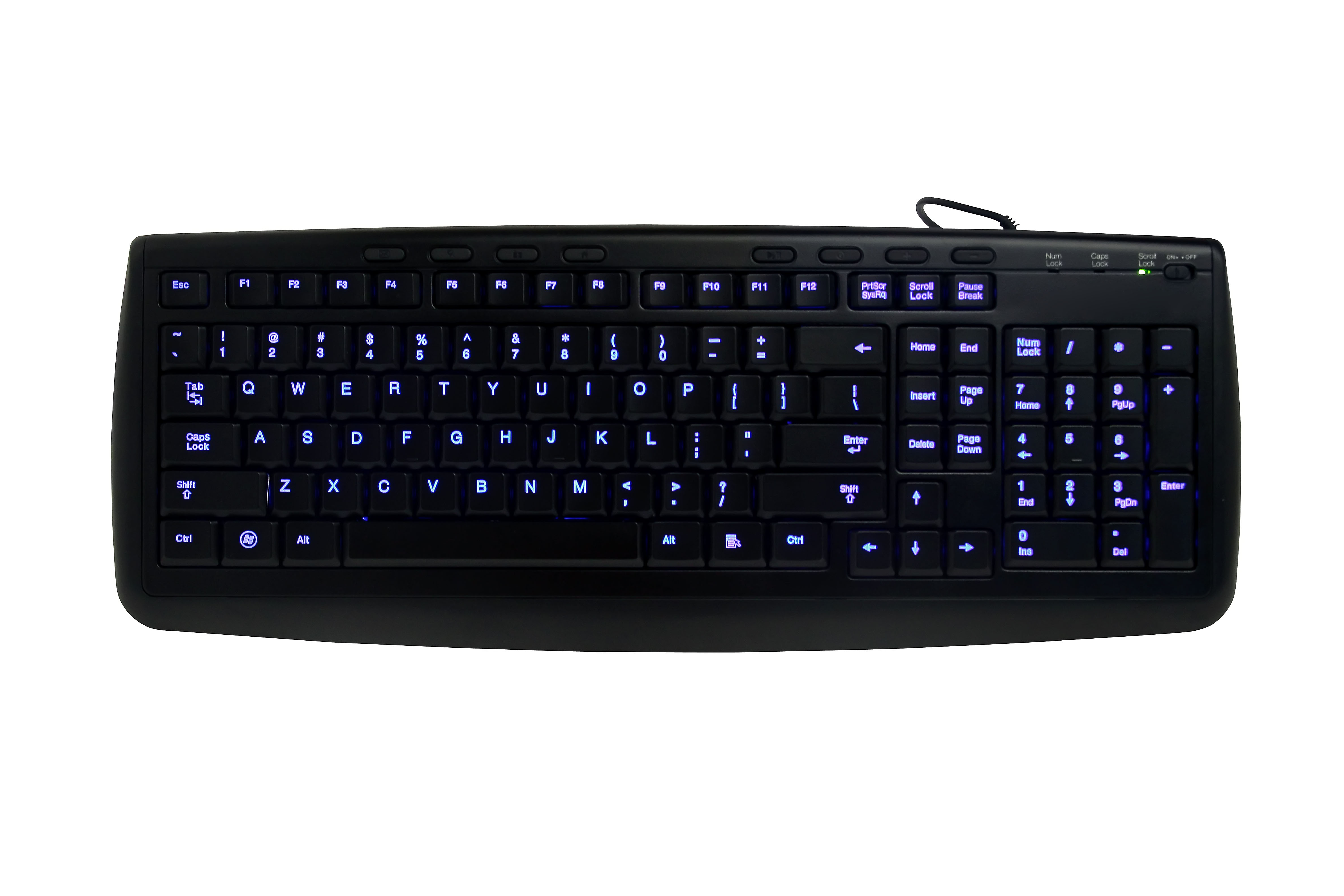 Letter illuminated Led Multimedia Keyboard