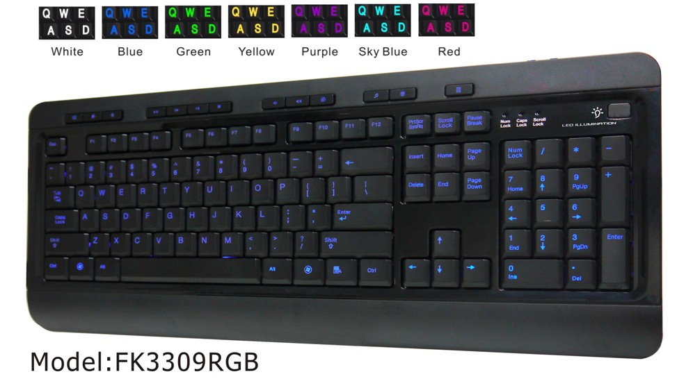 RGB Three-Color Backlit Wired Keyboard
